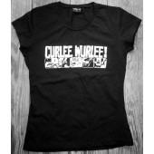 GIRL Shirt - CURLEE WURLEE! Logo / black-S