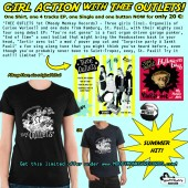 """THEE OUTLETS - Package (One shirt, two 7""""s and one button)"""