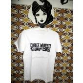 GIRL Shirt - CURLEE WURLEE! Logo / white-S