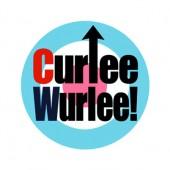 """CURLEE WURLEE! Badge (Design """"Target"""")"""